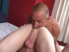 Sexually excited hunk loves to have his beafy penis sucked